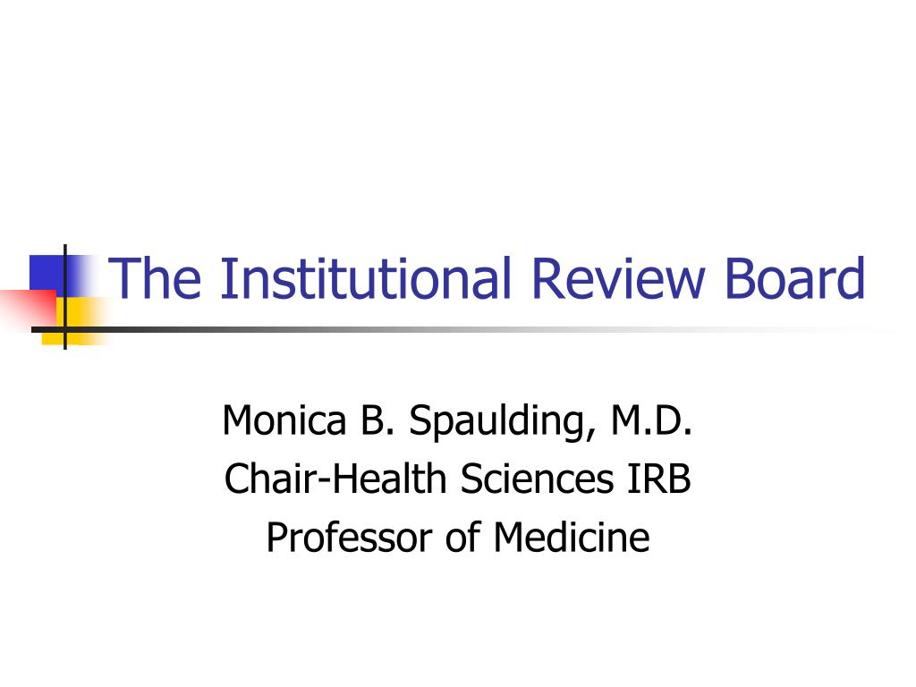 the institutional review board l.