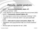 results factor analysis