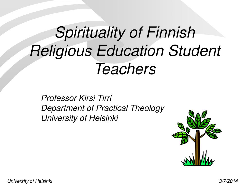 spirituality of finnish religious education student teachers l.