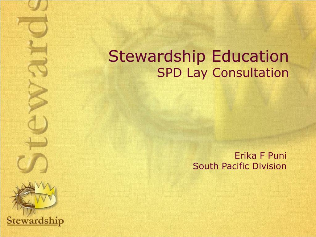 stewardship education spd lay consultation l.