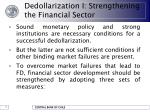 dedollarization i strengthening the financial sector10