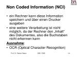 non coded information nci