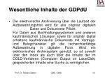 wesentliche inhalte der gdpdu161