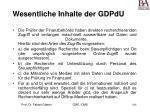 wesentliche inhalte der gdpdu164