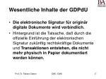 wesentliche inhalte der gdpdu27