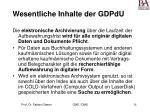 wesentliche inhalte der gdpdu28