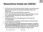 wesentliche inhalte der gdpdu31