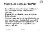 wesentliche inhalte der gdpdu32