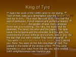king of tyre