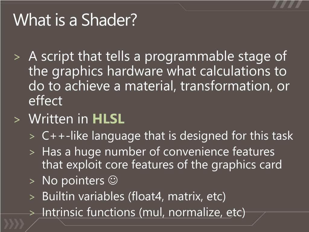 What is a Shader?