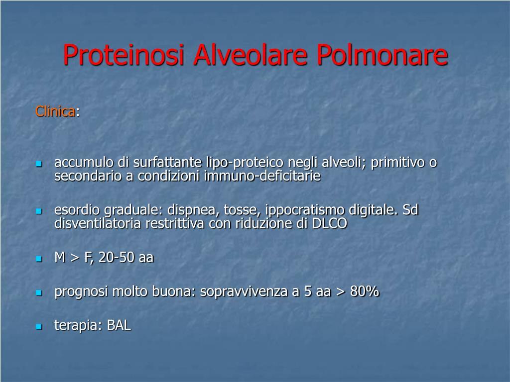 Proteinosi Alveolare Polmonare