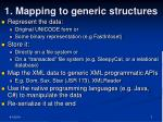 1 mapping to generic structures