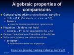 algebraic properties of comparisons