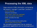 processing the xml data