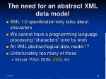 the need for an abstract xml data model