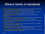 xquery family of standards