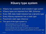 xquery type system