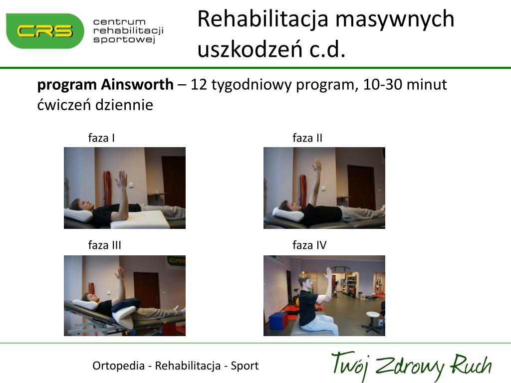 Rehabilitacja masywnych uszkodzeń c.d.
