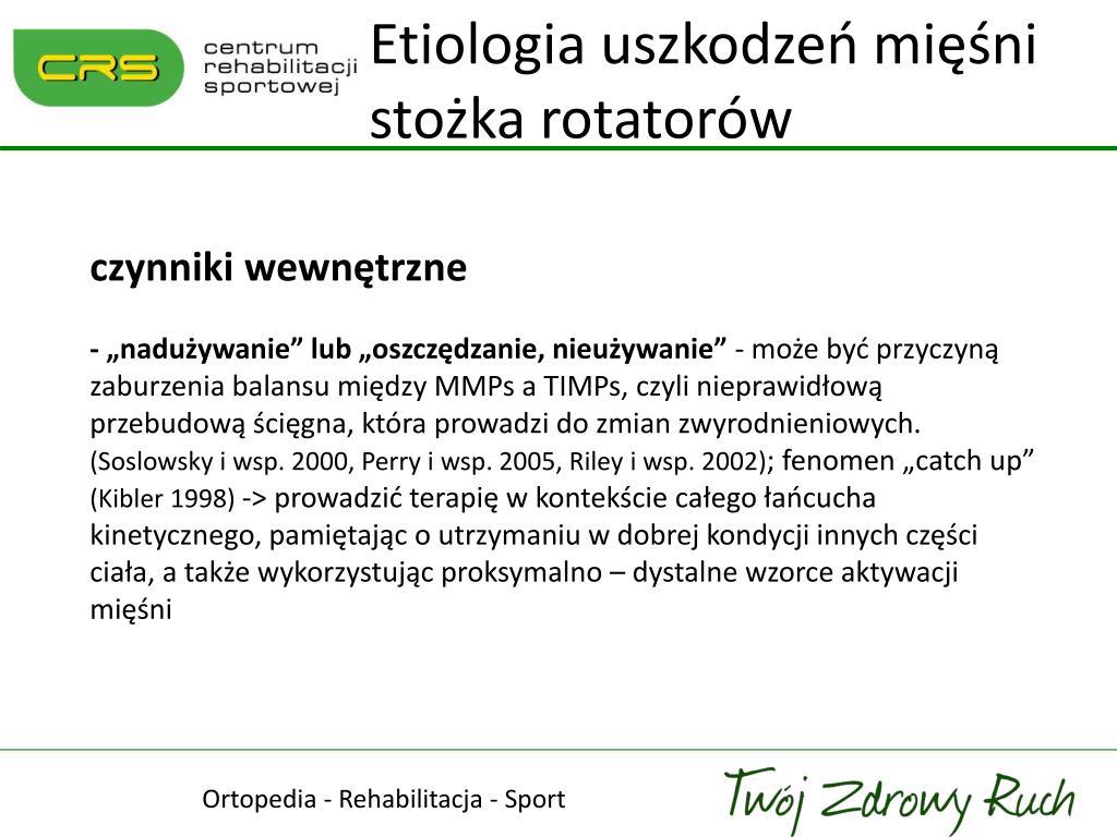 Etiologia uszkodzeń mięśni stożka rotatorów