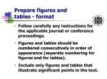 prepare figures and tables format