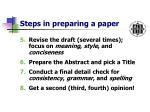 steps in preparing a paper4
