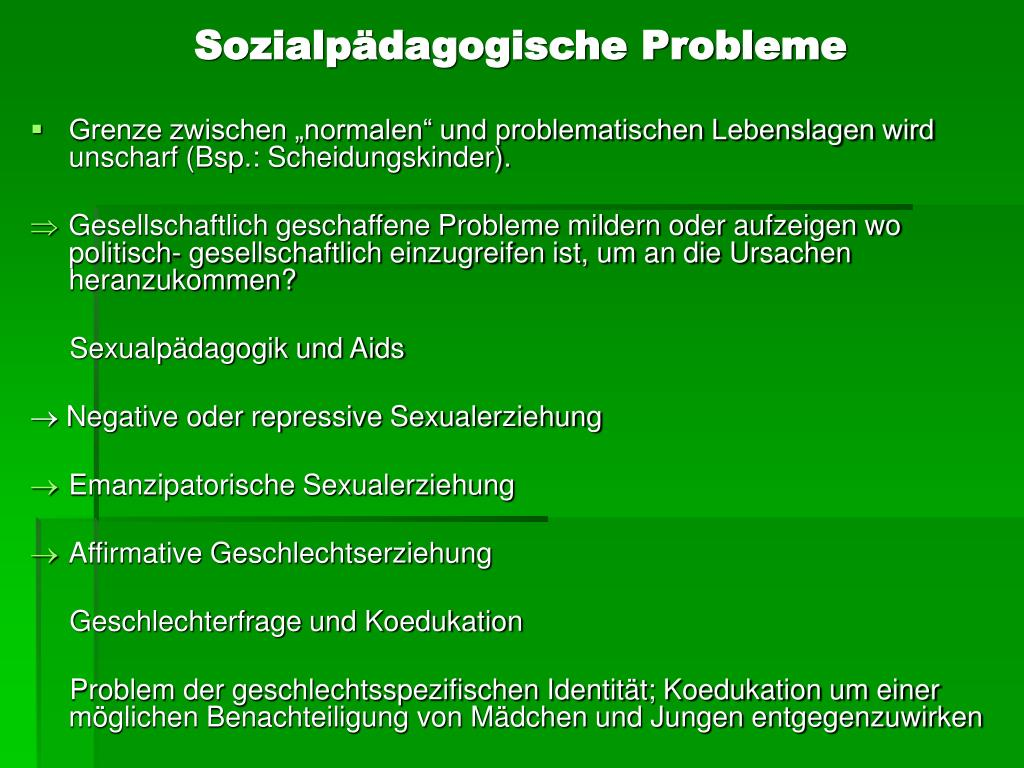 Sozialpädagogische Probleme