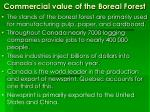 commercial value of the boreal forest