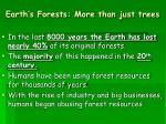 earth s forests more than just trees