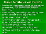 human territories and forests