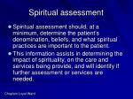 spiritual assessment42