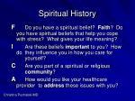 spiritual history53
