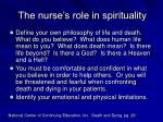 the nurse s role in spirituality