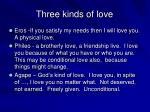 three kinds of love