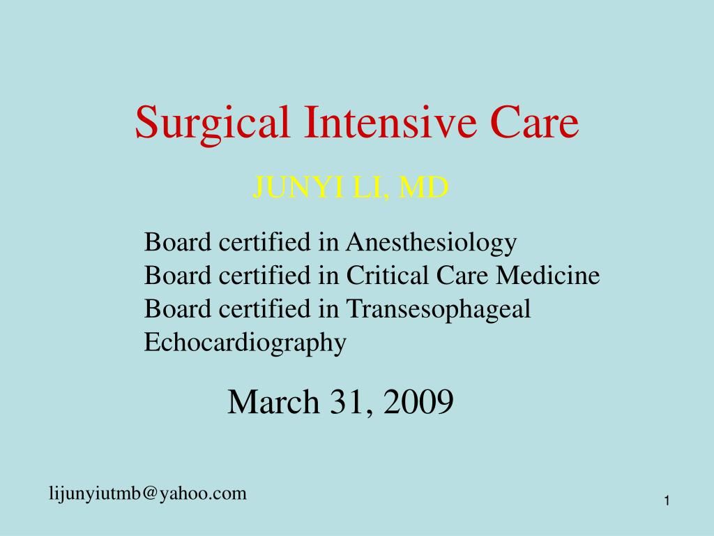 surgical intensive care l.