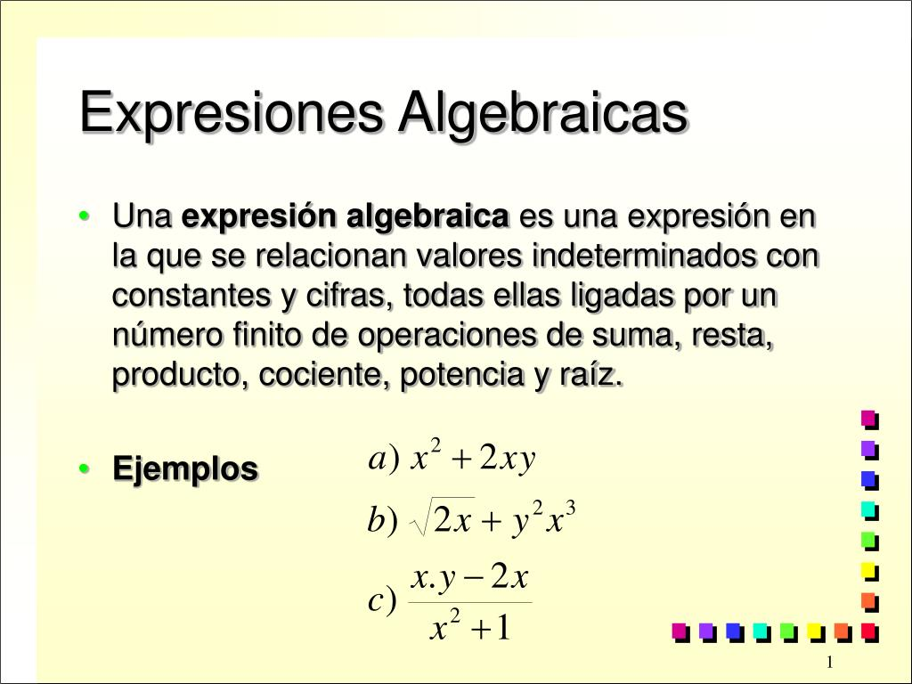 expresiones algebraicas l.