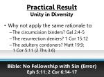 practical result unity in diversity15