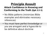 principle assault attack confidence in knowing and conforming to the truth eph 3 3 5
