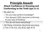principle assault attack confidence in knowing and conforming to the truth eph 3 3 512