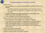 compelling aspects of the aqua proposal