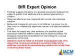 bfr expert opinion