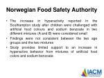 norwegian food safety authority