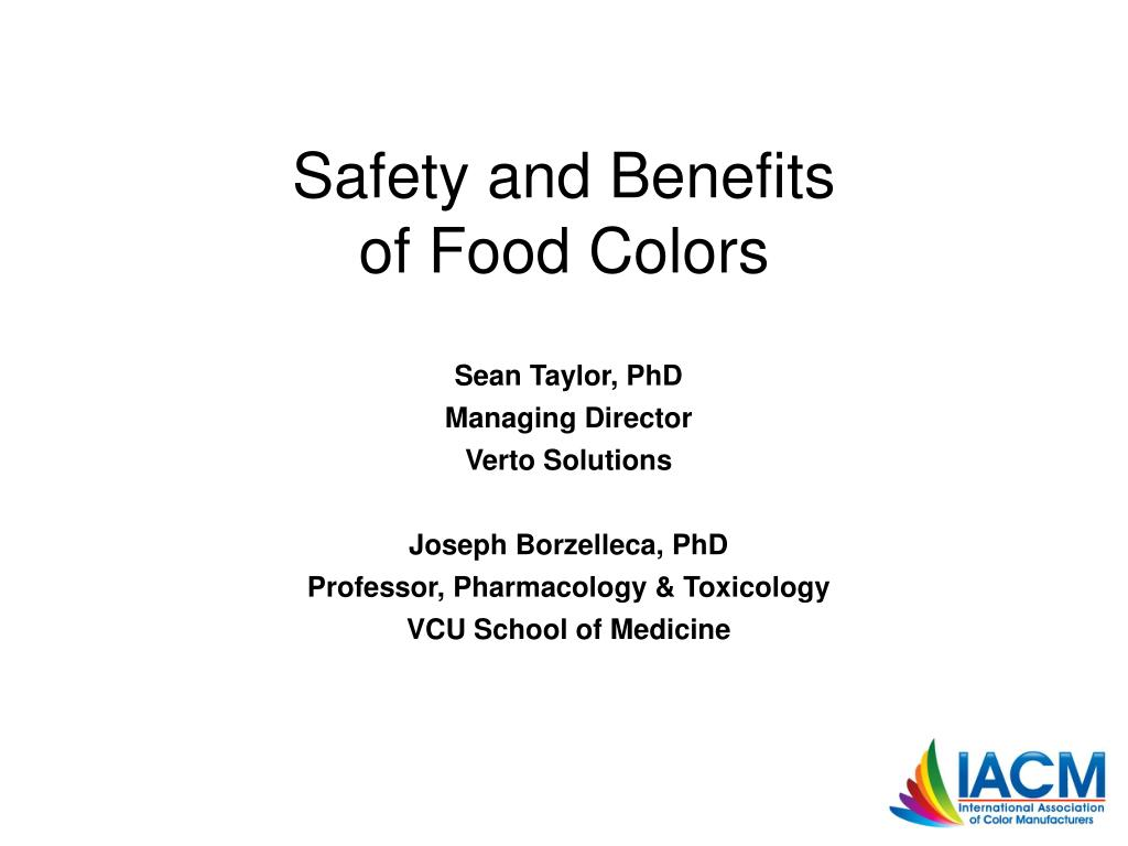 safety and benefits of food colors l.