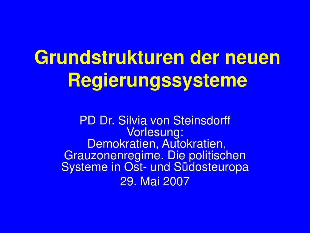 grundstrukturen der neuen regierungssysteme l.