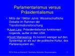 parlamentarismus versus pr sidentialismus