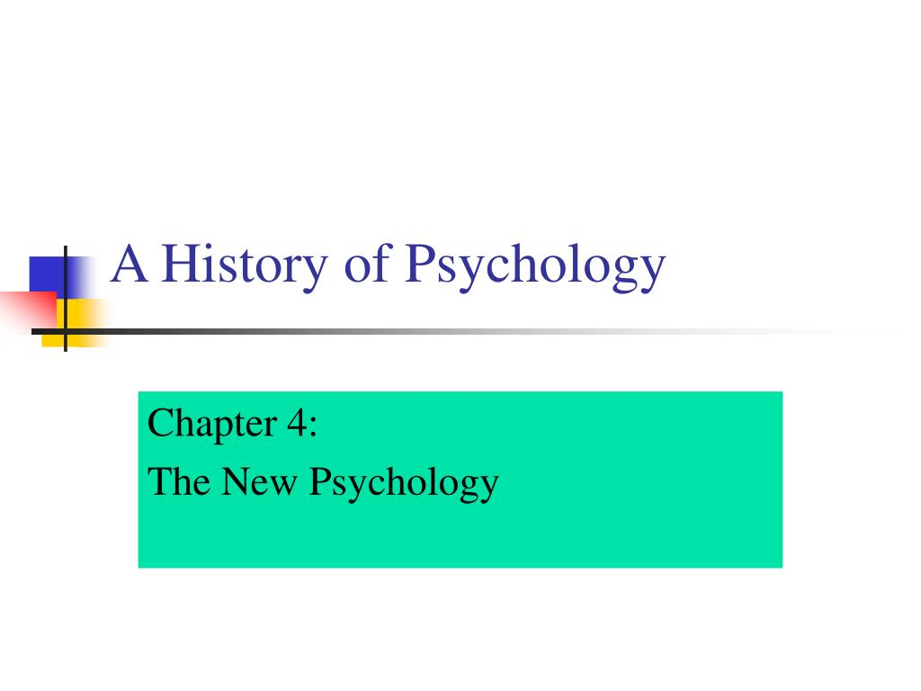 a history of psychology l.