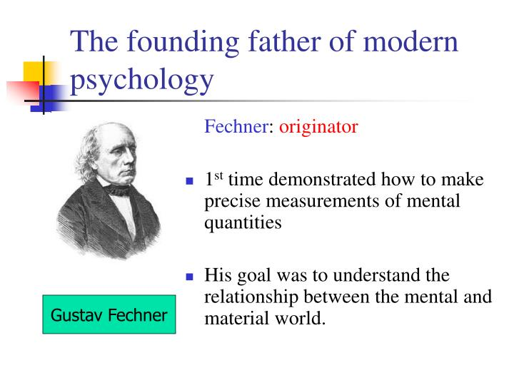 who is the founding father of modern psychology