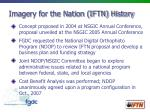 imagery for the nation iftn history