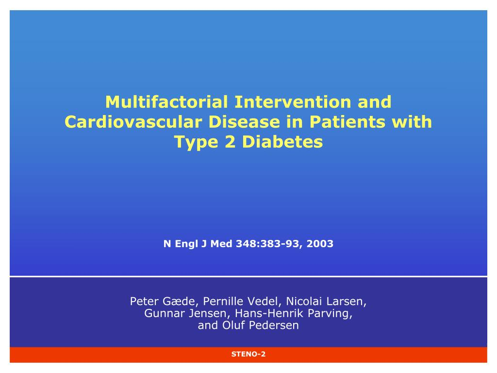 multifactorial intervention and cardiovascular disease in patients with type 2 diabetes l.