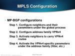 mpls configuration70