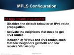 mpls configuration74